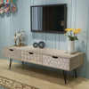 """Picture of TV Cabinet with 3 Drawers 47"""" - Gray"""