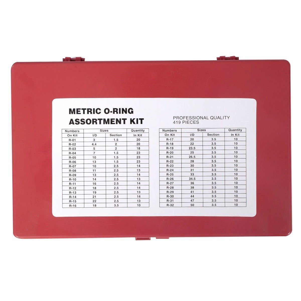 Picture of Universal Automotive Mechanics Metric Kit O-ring Assortment with a Case 419 Pieces