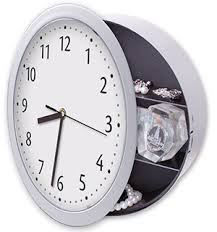 Picture of Wall Clock with Hidden Safe