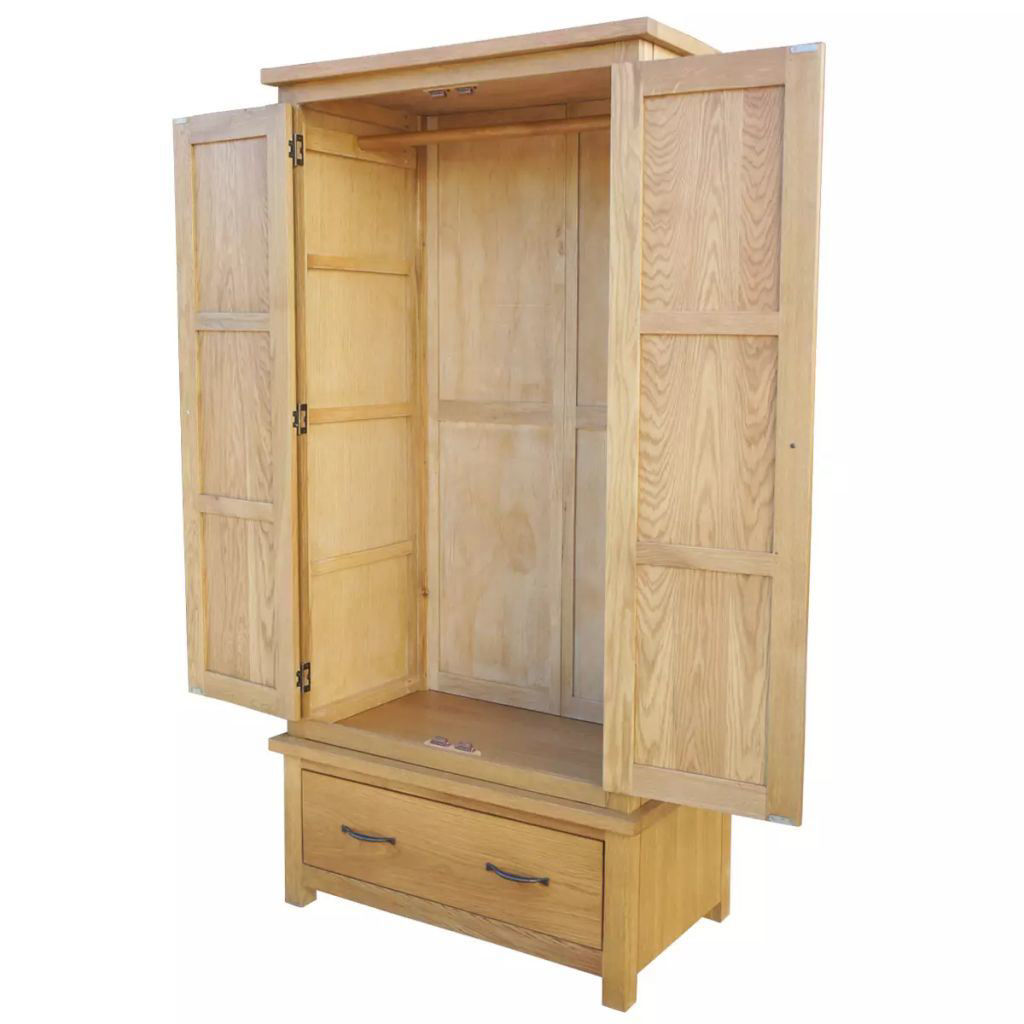 Picture of Wardrobe with 1 Drawer Oak 35.4x20.5x72