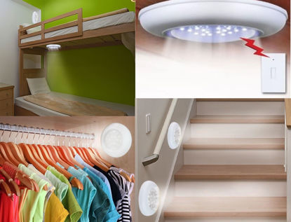 Picture of Wireless Ceiling Wall LED Light w/ Remote Control