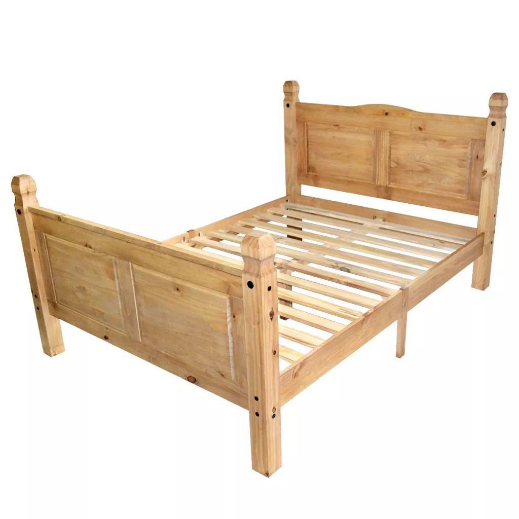 Picture of Wooden Bed Frame - Mexican Pine Corona Range 55'