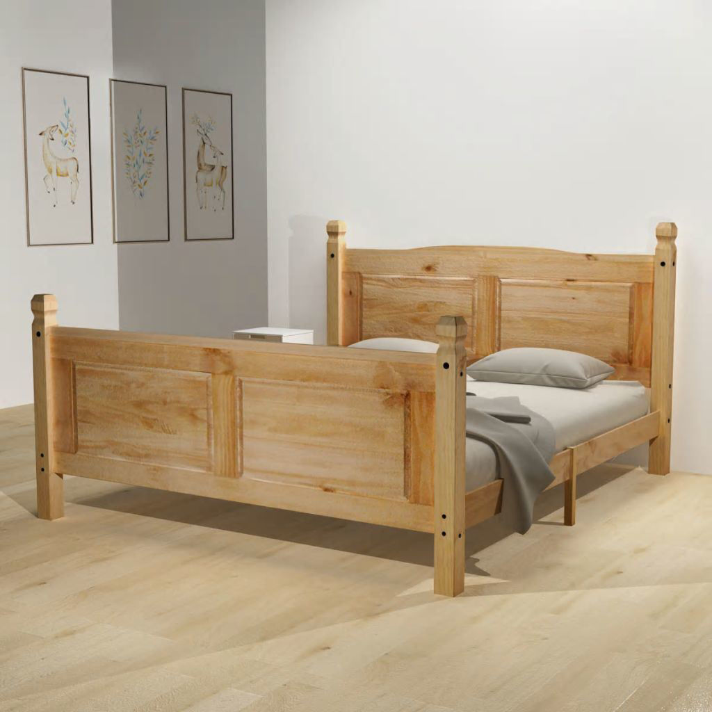 """Picture of Wooden Bed Frame - Mexican Pine Corona Range 63"""""""