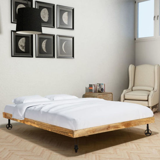 Picture of Wooden Double Bed Frame - Rough Mango 55""