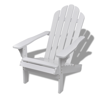Picture of Wooden Living Room Garden Chair - White