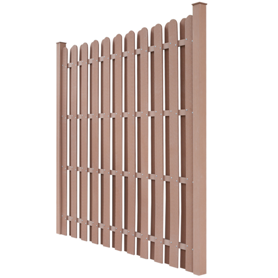 Picture of WPC Fence Panel Square Brown
