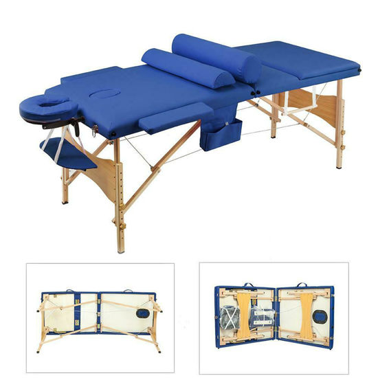 """Picture of Massage Table Portable Facial Bed 84""""L - Blue"""