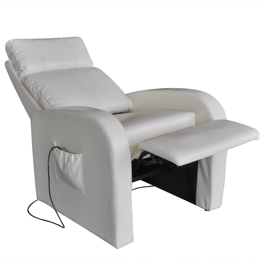 Picture of White Electric Massage Chair with Remote Control