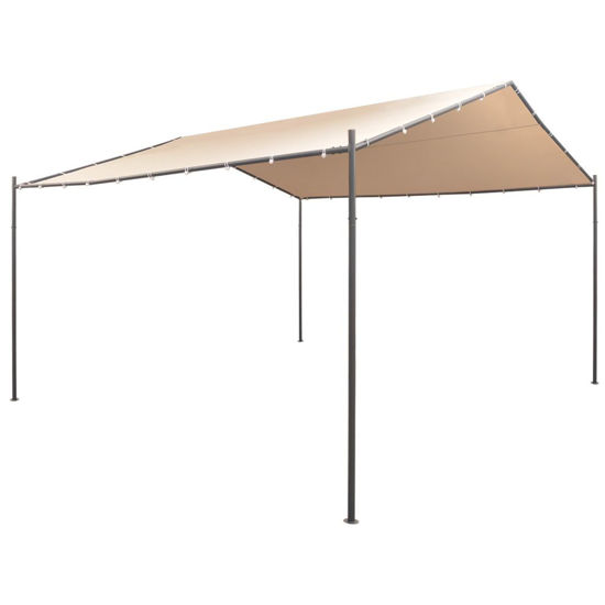 Picture of Outdoor Gazebo Pavilion Tent - Steel Beige