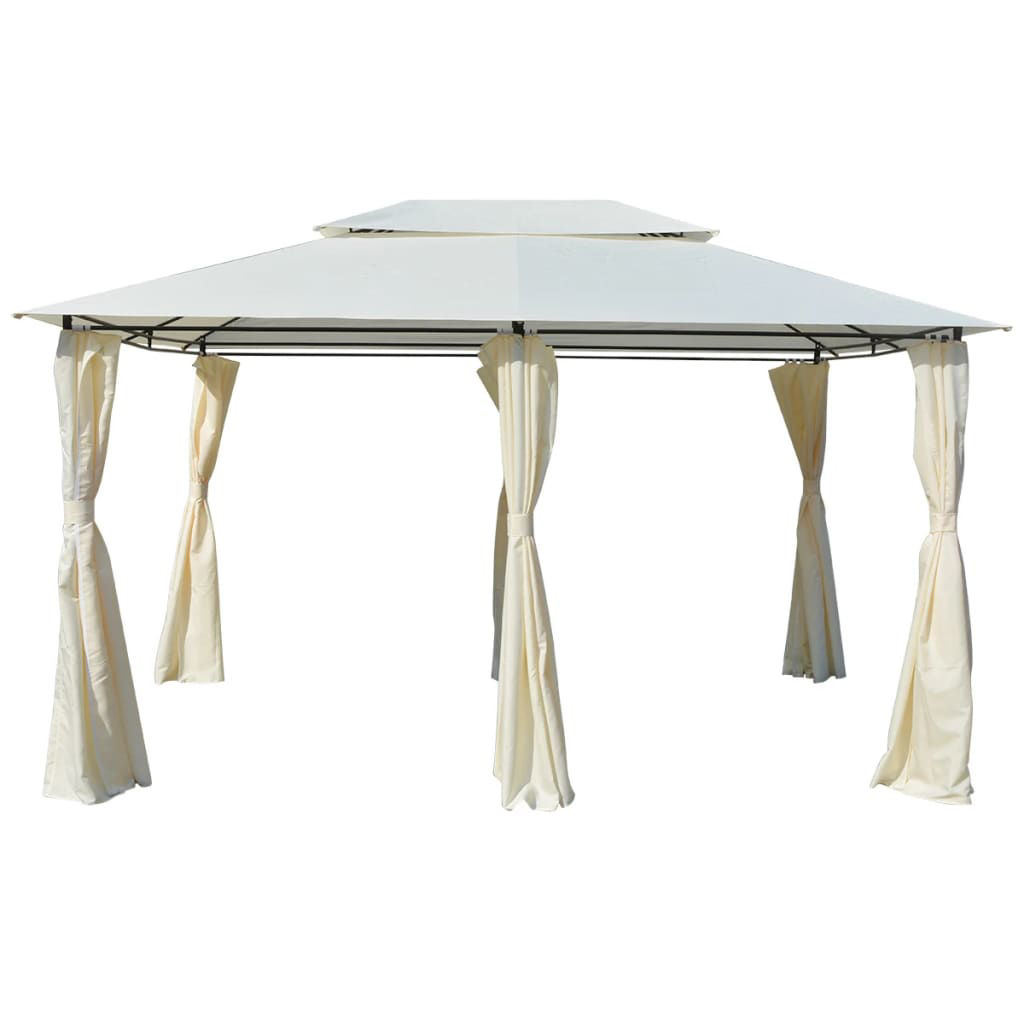 Picture of Outdoor Garden Gazebo Marquee with Curtains - White