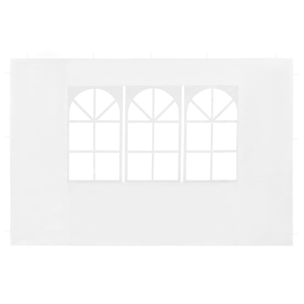 Picture of Outdoor Gazebo Replacement Sidewalls with Window - 2pcs White