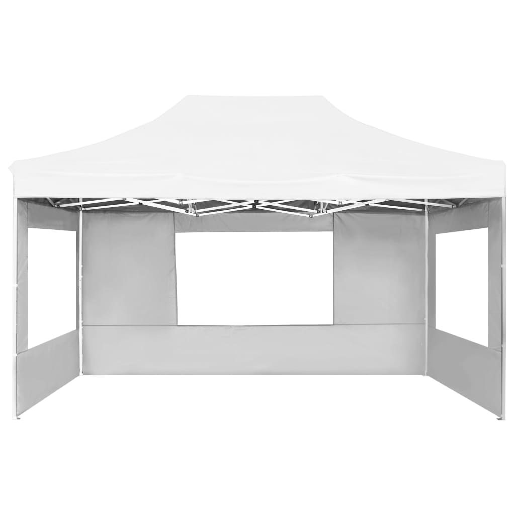 Picture of Outdoor Folding Aluminum Gazebo Tent with Walls - White