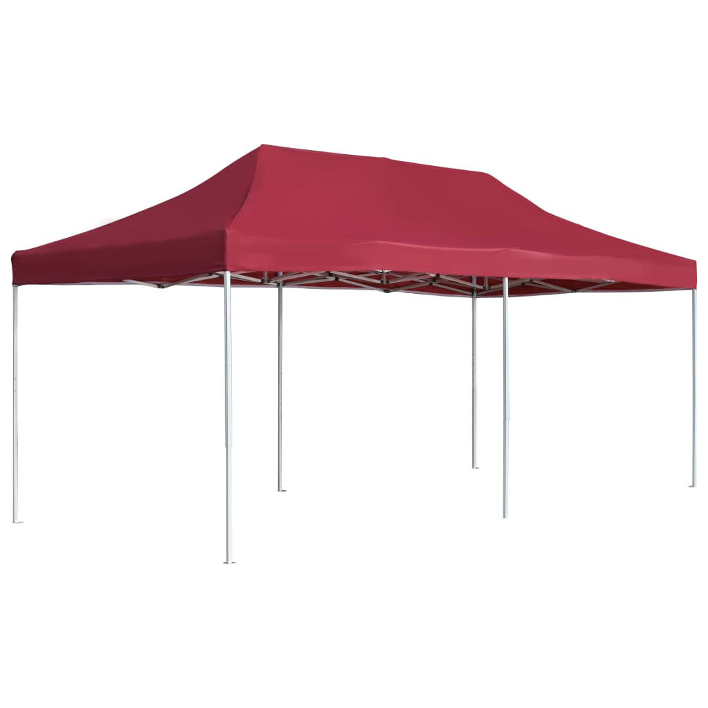 Picture of Outdoor Folding Aluminum Gazebo Tent - Wine Red