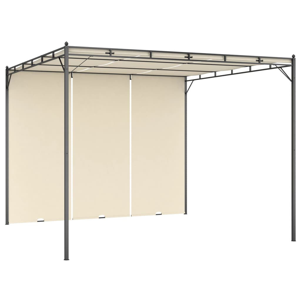 Picture of Outdoor Gazebo Tent with Side Curain - Cream
