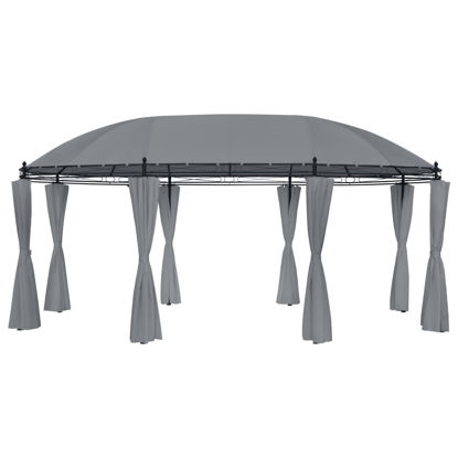 Picture of Outdoor Gazebo Tent with Curtains - Anthracite