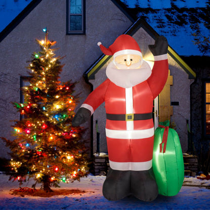 """Picture of Outdoor Inflatable Christmas Santa Claus 8"""""""
