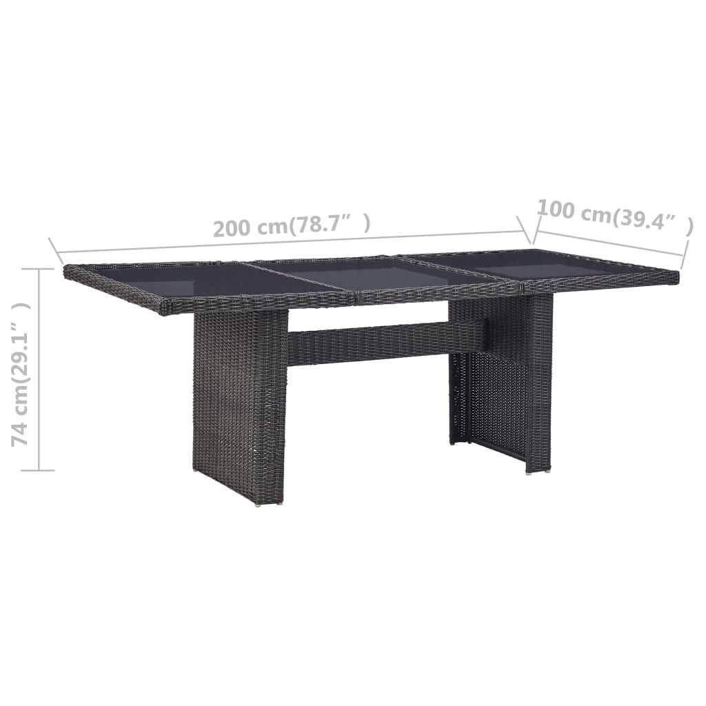 """Picture of Garden Dining Table - Black 78"""""""