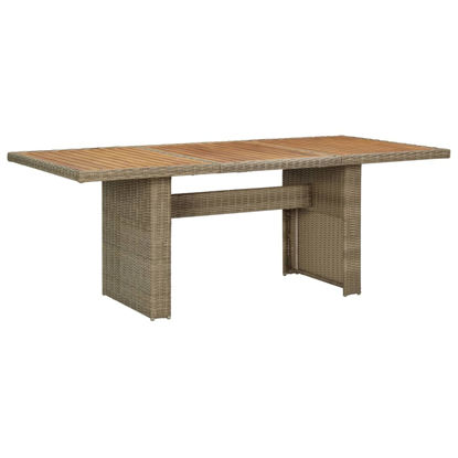 "Picture of Outdoor Dining Table 78"" - Brown"