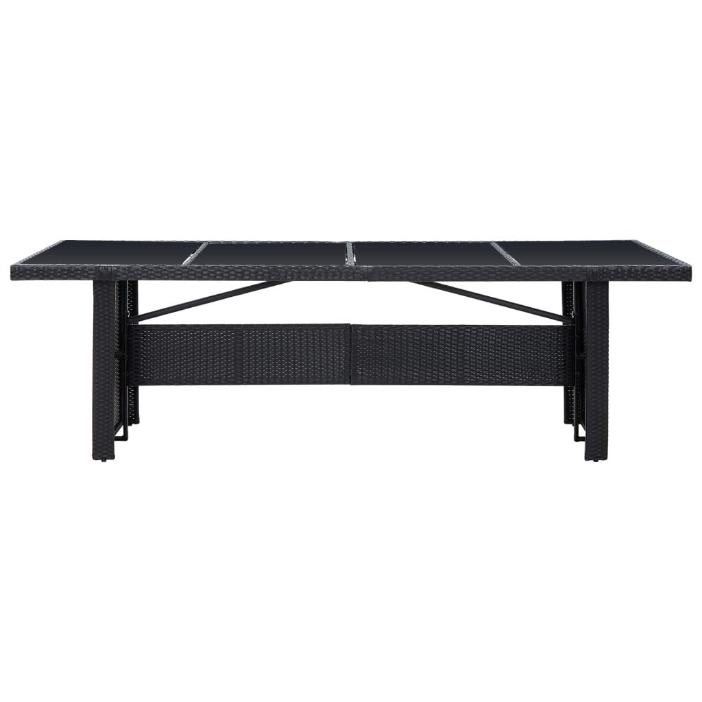 "Picture of Outdoor Dining Table 94"" - Black"