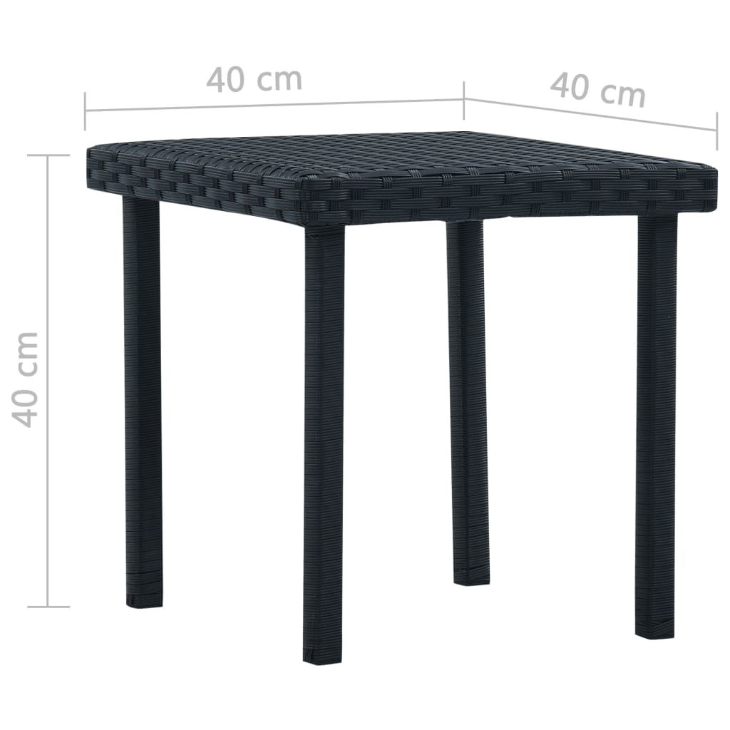 """Picture of Patio Tea Table 15"""" - Black"""