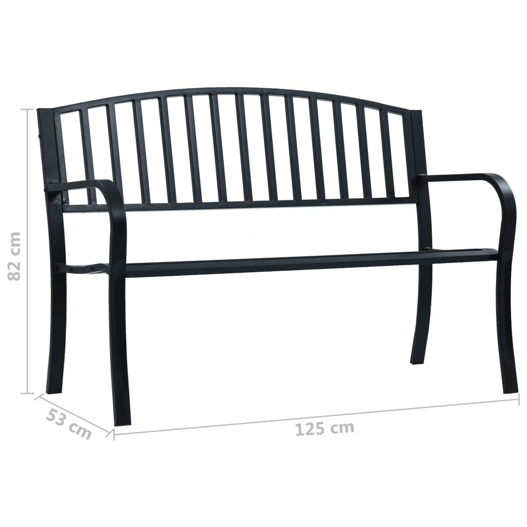 Picture of Patio Bench - Black