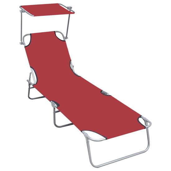 Picture of Outdoor Folding Lounger - Red