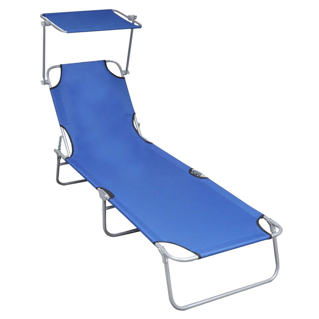 Picture of Outdoor Folding Lounger - Blue