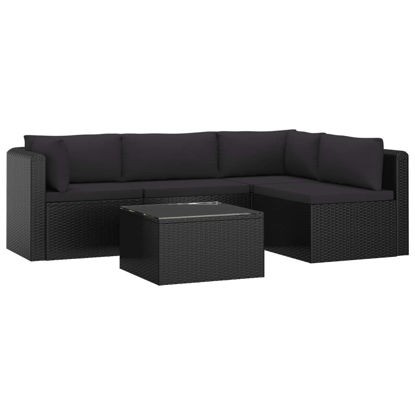 Picture of Outdoor Patio Lounge - Black 5 pc