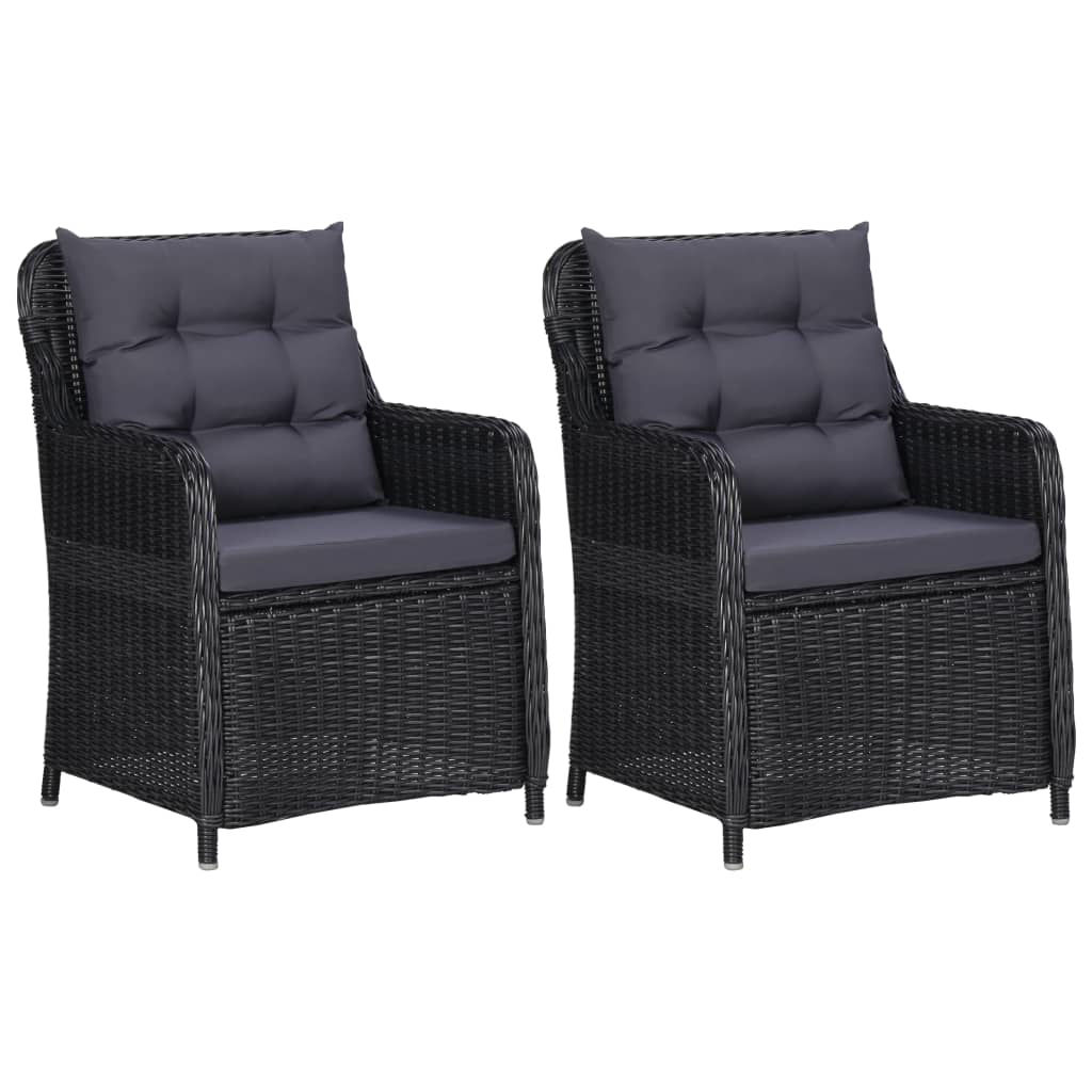 Picture of Patio Chairs 2 pcs Black