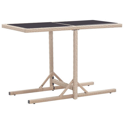 "Picture of Outdoor Patio Table 43"" Beige"
