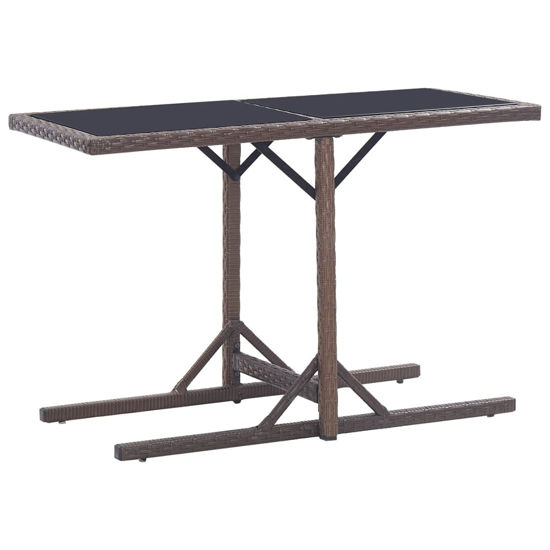 """Picture of Outdoor Patio Table - Brown 43"""""""