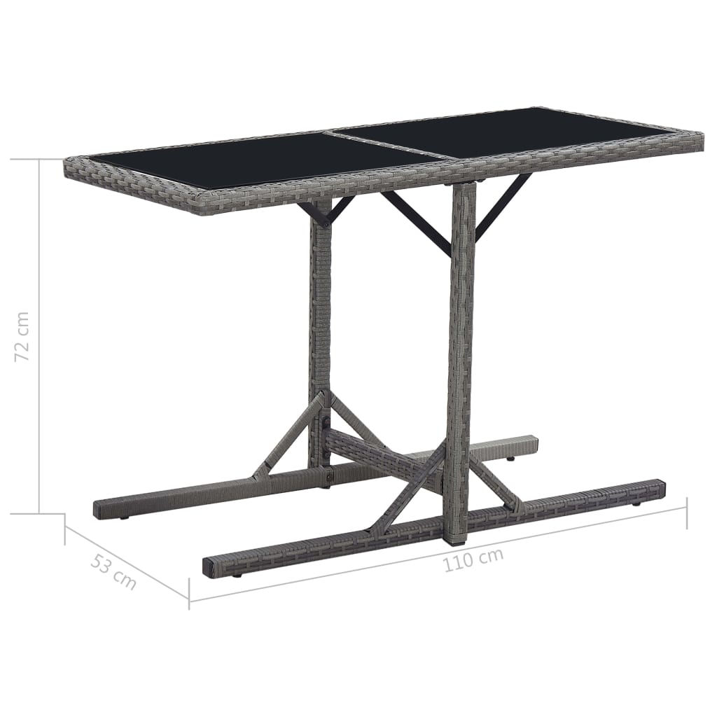 "Picture of Outdoor Patio Table - 43"" Black"