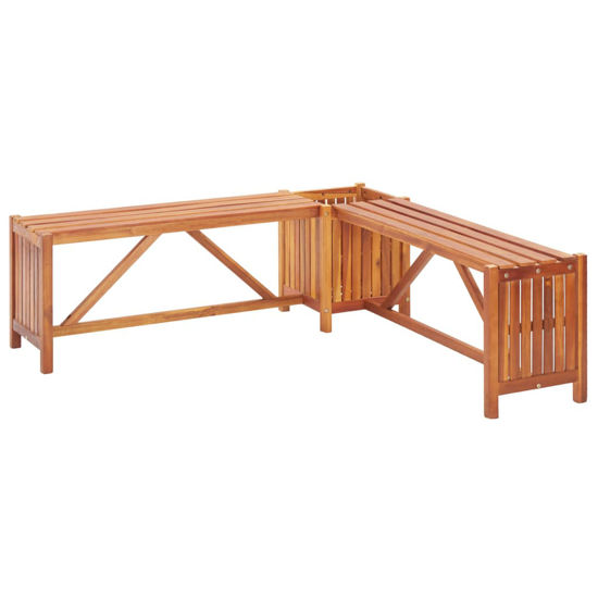 Picture of Outdoor Bench with Planter 46""