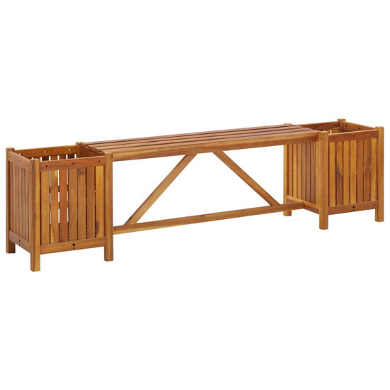 """Picture of Outdoor Bench with Planters 59"""""""