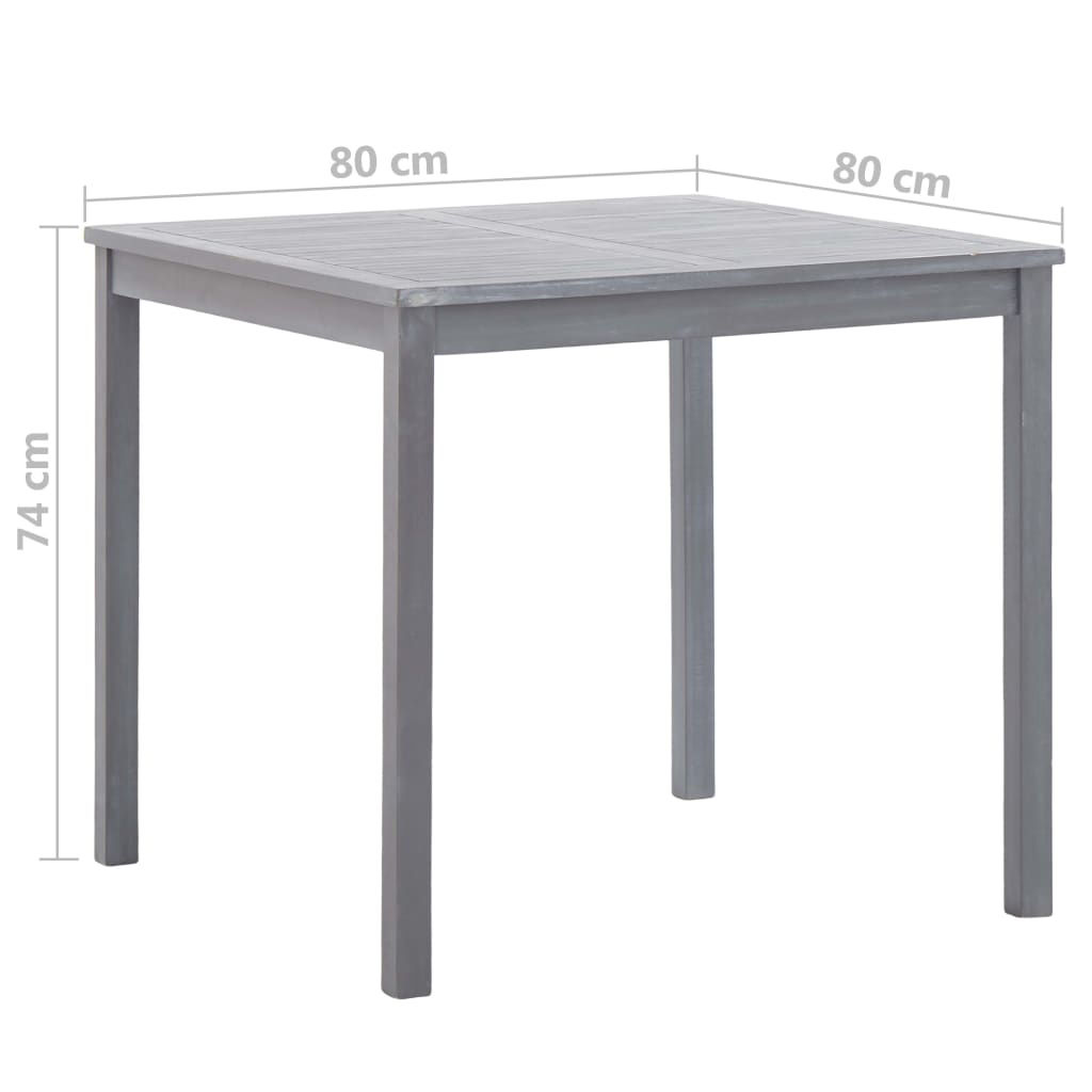 """Picture of Outdoor Table 31"""" Gray"""