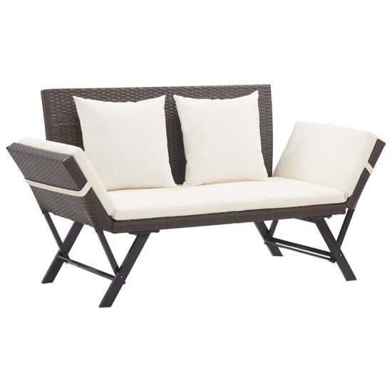 """Picture of Outdoor Bench 69"""" - Brown"""