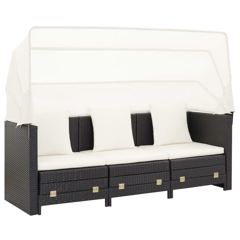 Picture of Outdoor 3-Seater SunBed - Black