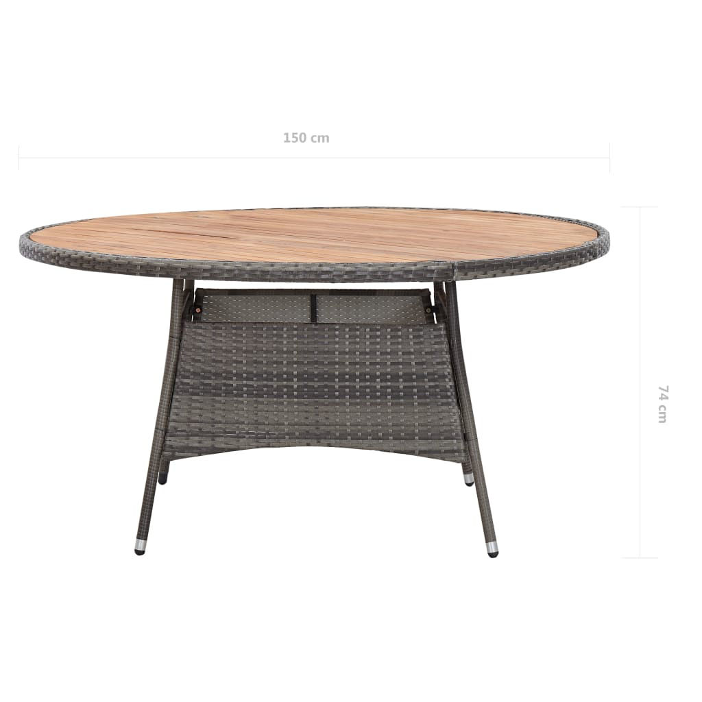 "Picture of Outdoor Table - 59"" Gray"