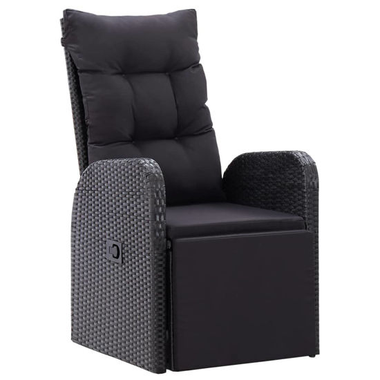Picture of Outdoor Reclining Chair - Black