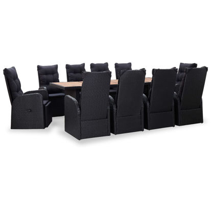 Picture of Outdoor Dining Set - Black