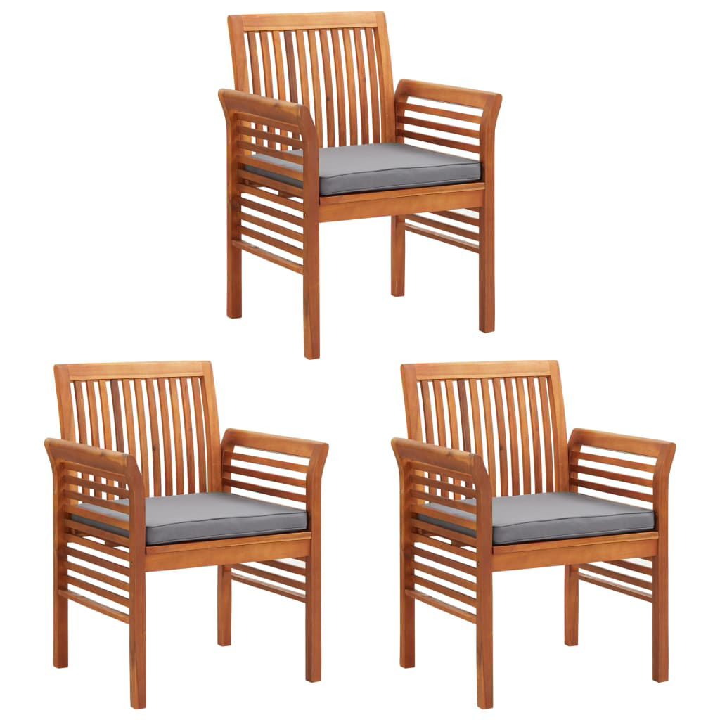 Picture of Outdoor Dining Chairs 3 pcs