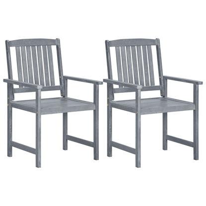 Picture of Outdoor Chairs 2 pcs - Gray