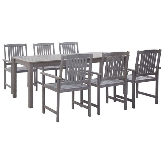 Picture of Outdoor Dining Set 7 pc - Gray