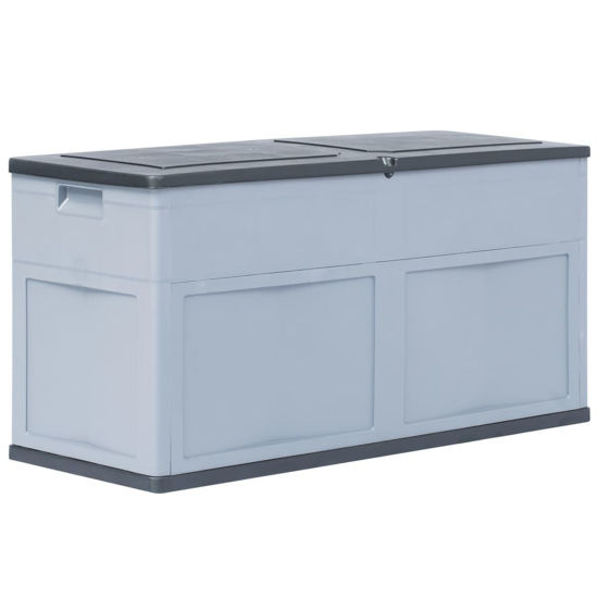 Picture of Outdoor Garden Storage Box 84.5 gal - Gray Black