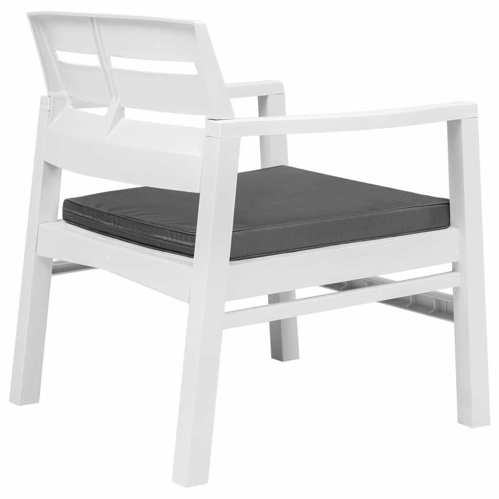 Picture of Outdoor Plastic Chairs -  White
