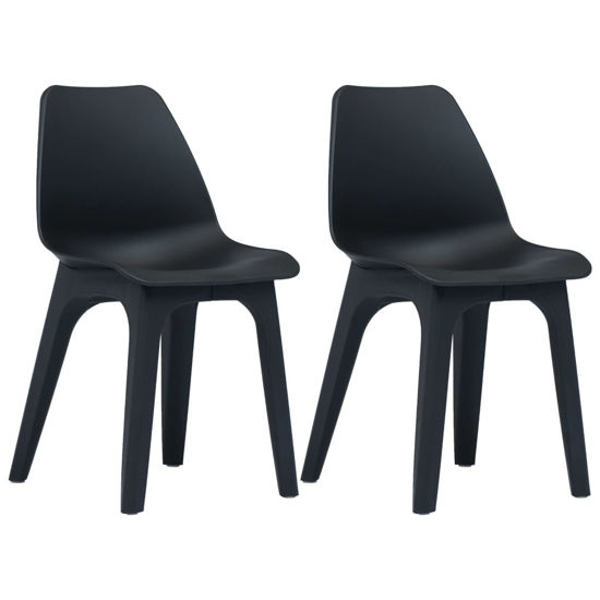 Picture of Outdoor Plastic Chairs 2 pcs