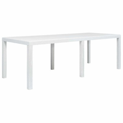 "Picture of Outdoor Plastic Table 86"" - White"
