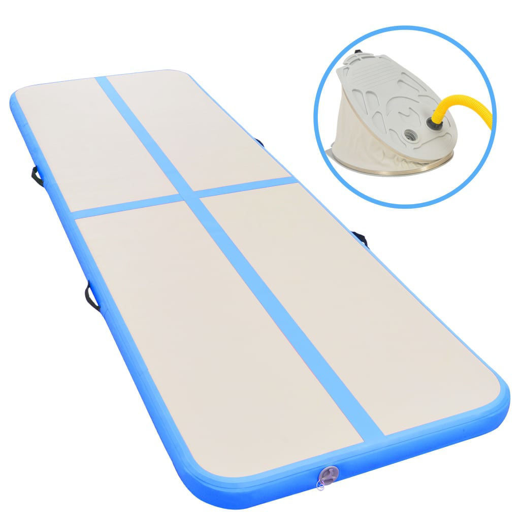 Picture of Fitness Gym Mat with a Pump - Blue