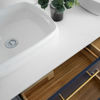 """Picture of Lucera 60"""" Royal Blue Wall Hung Modern Bathroom Cabinet w/ Top & Double Vessel Sinks"""