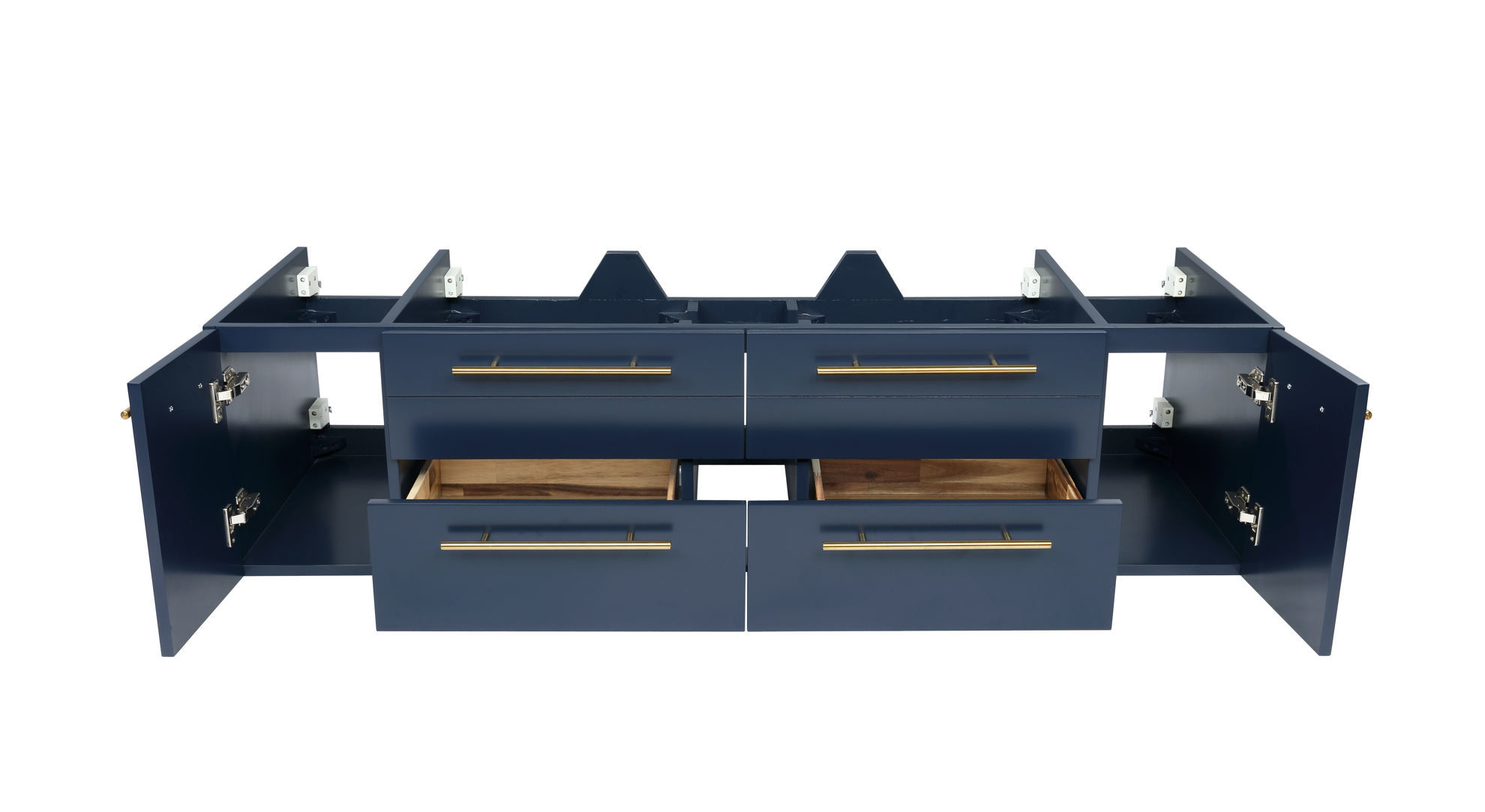"""Picture of Lucera 60"""" Royal Blue Wall Hung Single Undermount Sink Modern Bathroom Cabinet"""